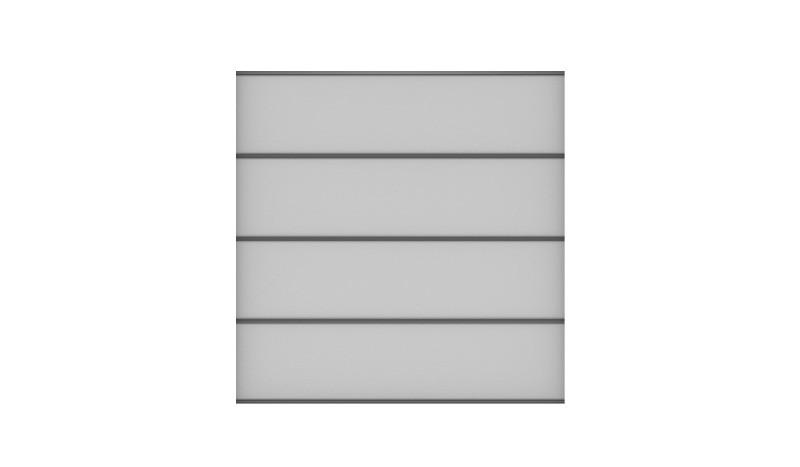 HPL Sichtschutzwand Bausatz bestehend aus 4 Lamellen Uni-Grau, Zubehörset, Distanzstücken, Lisenen und Abschlussprofil