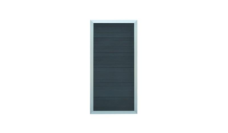 Die Zaunelemente haben einen stabilen, umlaufenden Rahmen aus Aluminium. Maß: 90 x 180 cm