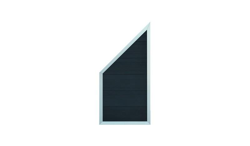 Das Eckelement der Samso-Serie aus widerstandsfähigem WPC. Anthrazit, 90 x 180 / 90 cm
