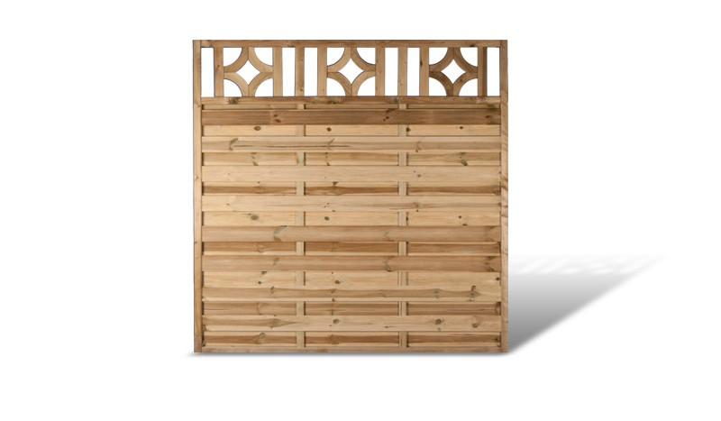 Sichtschutz Zaun Element mit Rankgitter aus druckimprägnierter Kiefer/Fichte . 180x180cm. Rahmen: ca. 45 x 45 mm