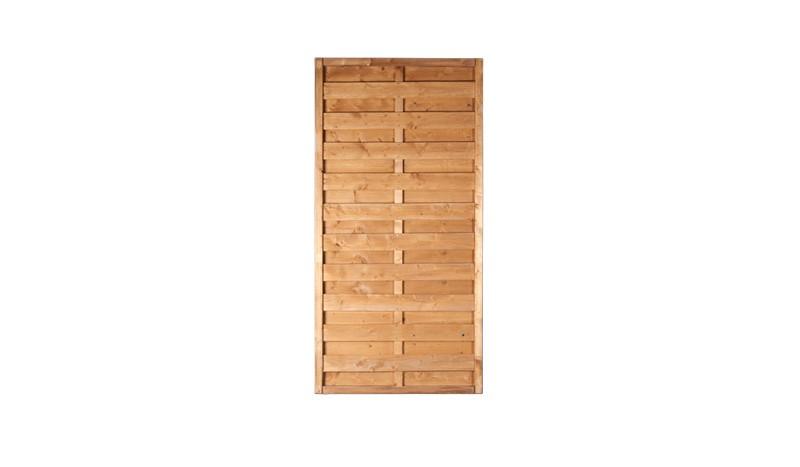 Holz - Sichtschutz Rostock 90x180cm mit fungizidem Holzschutz und Kiefer Lasur vorbehandelt