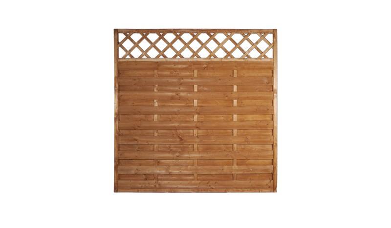 Sichtschutz Sunline mit fungizidem Holzschutzmittel vorbehandelt. 1,8m x 1,8m