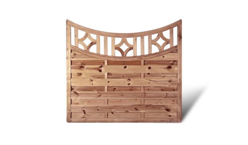 Sichtschutz Zaun Holz Köln Aktion Bogen Rankgitter. 180x160/140cm. Druckimprägnierte Fichte/Kiefer