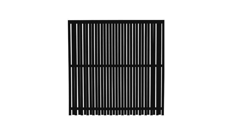 Kiefer/Fichtenholz, 180 x 180 cm, fungizid und farbgrundiert schwarz, inkl. rostfreie Schlagschrauben