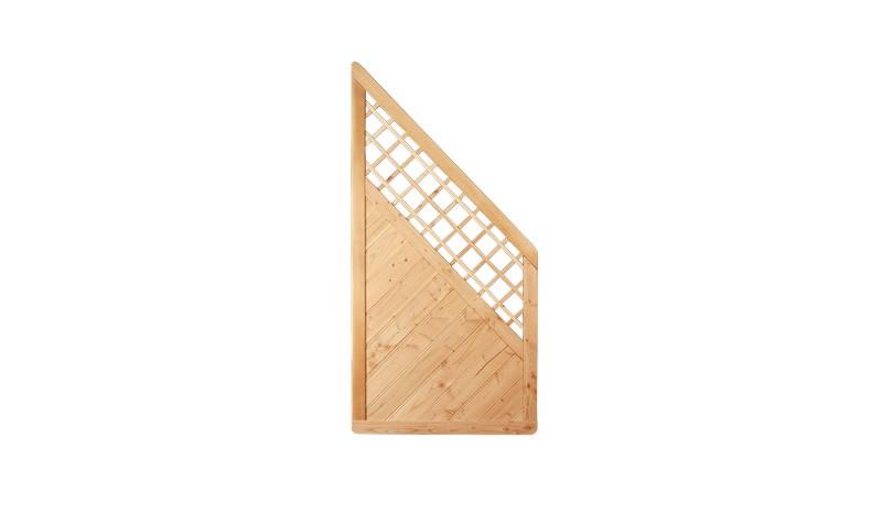 Douglasien Zaunabschluß der Serie Taunus. Rahmenstärke von 40 x 68 mm und dem Maß: 90 x 180 auf 90cm