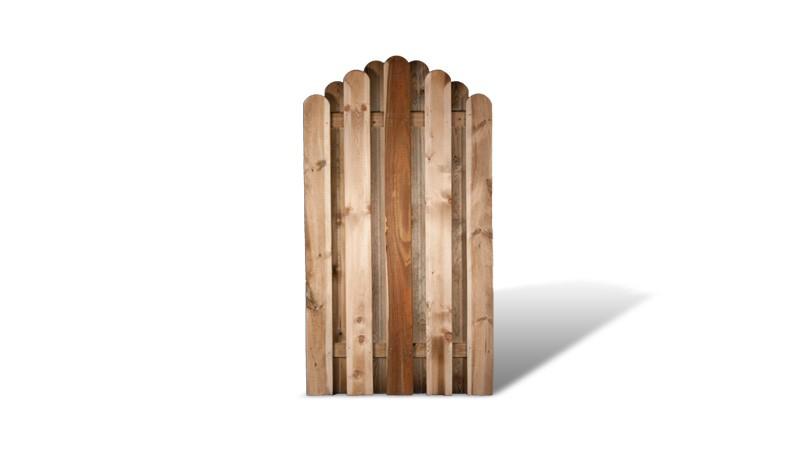 Ein Zaunbogen aus druckimprägniertem Kiefernholz mit dem Maß : 100 x 180 auf 90cm