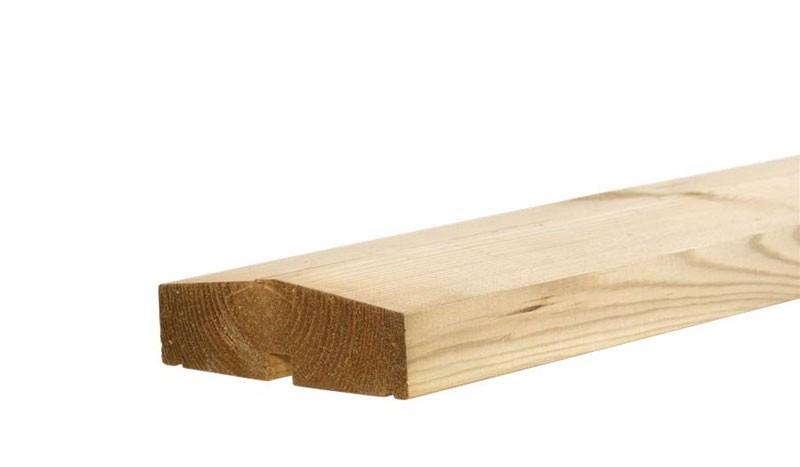 Die passende Abschlussleiste für das Steckzaunsystem Klink und Steckzaunsystem Plank im Detail: 114 x 34 mm x 200 cm