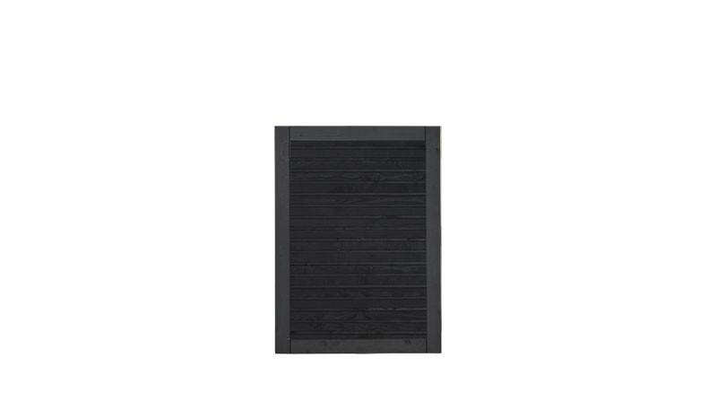 Unser druckimprägniertes Zauntor Plank in der Farbe Anthrazit mit dem Maß: 100 x 125 cm.