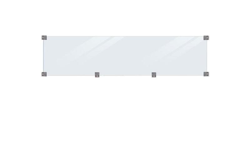 Der Glaseinsatz passend zur Steckzaunsystem Serie Klink und Steckzaunsystem Plank bei uns auf meingartenversand.de