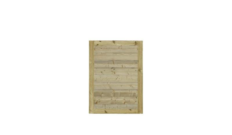 Unser druckimprägniertes Zauntor Plank mit dem Maß: 100 x 125 cm.