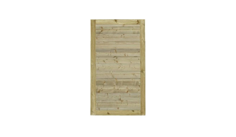 Unser Zauntor Plank mit dem Maß: 100 x 163 cm.