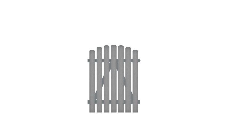 10 Jahre Garantie auf UV-Beständigkeit. Vollkunstofflatten auf Aluminiumrahmen, 100 x 120 auf 130 cm, grau (RAL 7056),  DIN-R, inkl. verstellbare Edelstahlbeschläge (6mm starke Ladenbänder vormontiert) und Überwurf