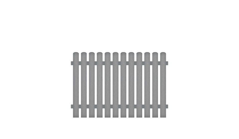 Gartenzäune mit 10 Jahren Garantie auf UV-Beständigkeit. 180 x 120 cm, grau (RAL 7056), Edelstahl verschraubt, inkl. Montageset und Bohrer