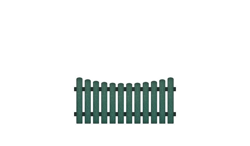Wetterfestes Kunststoff Gartenzaun Elemnt mit Vollkunstofflatten und Aluminiumquerriegel