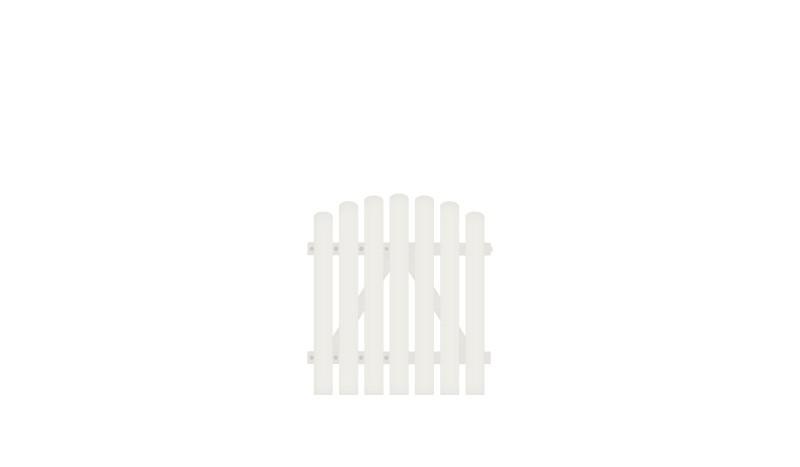 Pflegeleichtes Kunstsoff Einzeltor aus Vollkunstofflatten auf Aluminiumrahmen, 100 x 100 auf 110 cm, weiß (RAL 9016)
