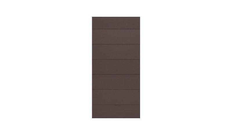 Füllelemente aus WPC in der Farbe Braun, 90 x 175 cm. Mit dem Universal-Türrahmen zum Tor kombinierbar