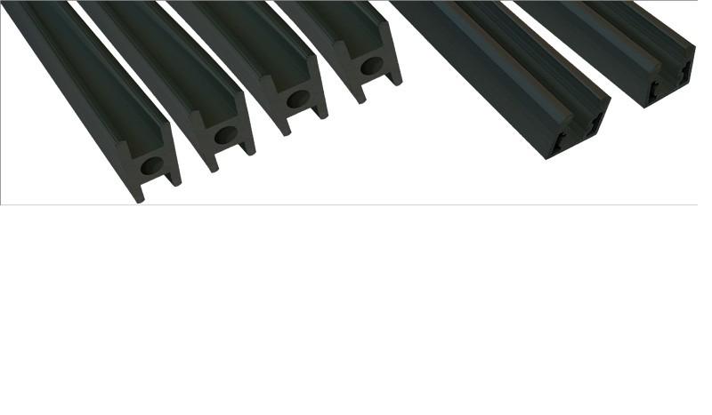 Leistenset zum Bauen der wetterfesten HPL-Tore. Kompletter Bausatz (Ohne Rahmen). Farbe: Anthrazit