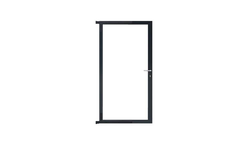 Bausatz zum erstellen von Toren diverser Steckzäune. Inkl. Rahmen und Beschlägen. Anthrazit, 90 x 175 cm