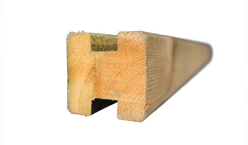 Verbindungspfosten für die Lärmschutzzäune zum Selberbauen mit einer Länge von 210 cm und Kantenlängen von 9 cm
