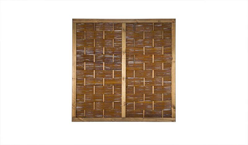 Sichtschutz aus Weidengeflecht in einer Größe von 180 x 180cm