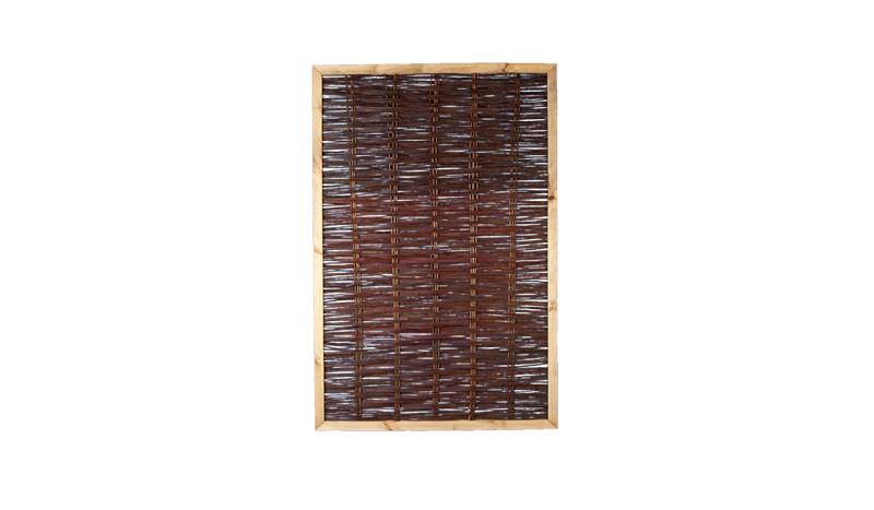 Sichtschutzzaun mit Rahmen und einem Maß von 120 x 180cm
