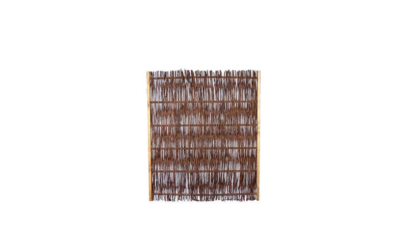 Weidflechtzaun mit einer Rahmenstärke von 24 x 48 mm