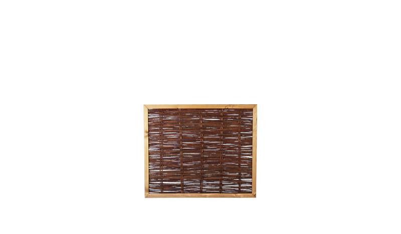 Ölbehandelter Sichtschutzzaun mit einem Maß von 120 x 100 cm