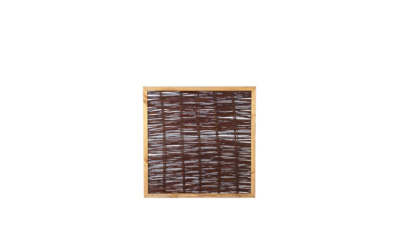 Weidenpflechtzaun mit einer Rahmenstärke von 35 x 45 mm
