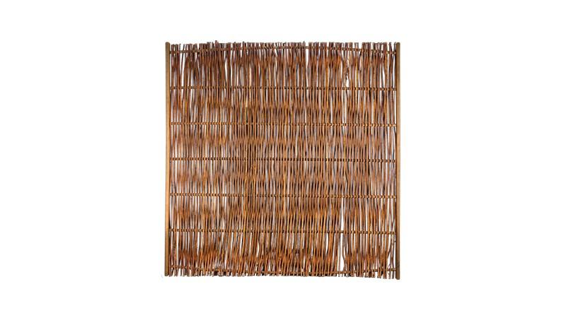 Weidenzaun mit einer Rahmenstärke von 24 x 48 mm und einem Maß von 180 x 180cm