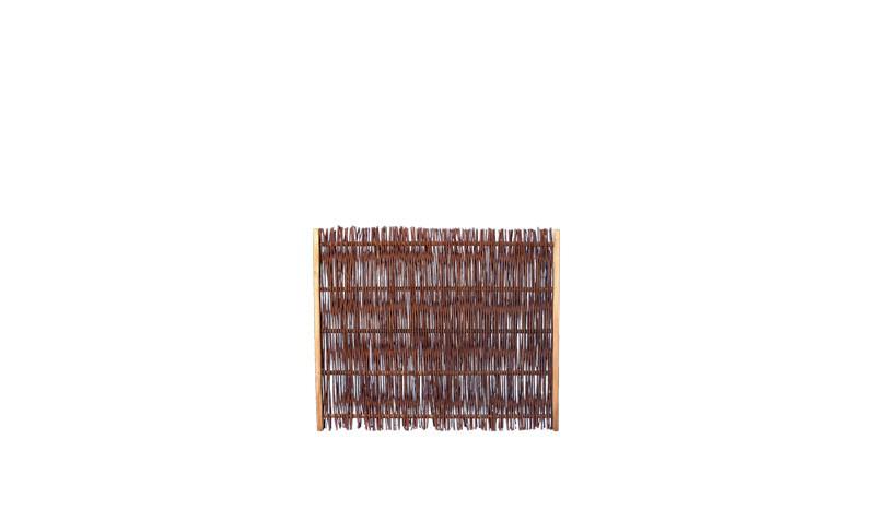Ölbehandelter Weidenzaun mit dem Maße von 120 x 100 cm