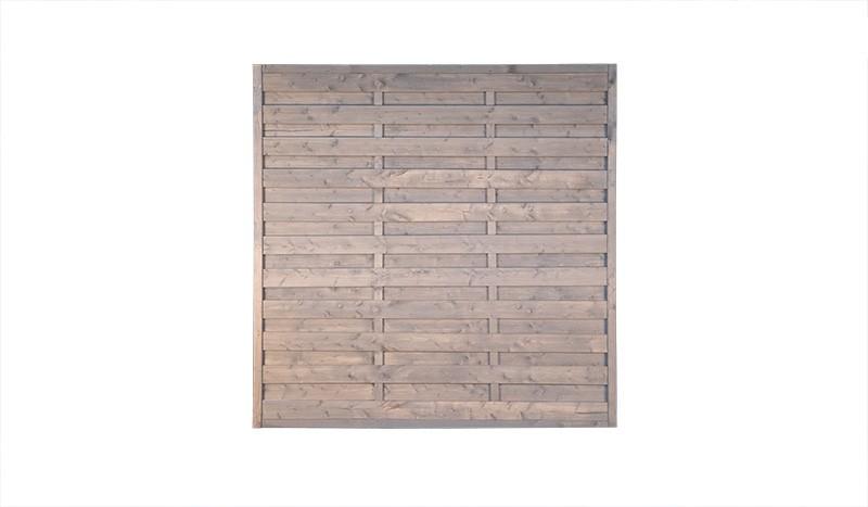 Sichtschutz Wismar aus druckimprägnierter Kiefer/Fichte. Grau lasiert, 180 x 180 cm