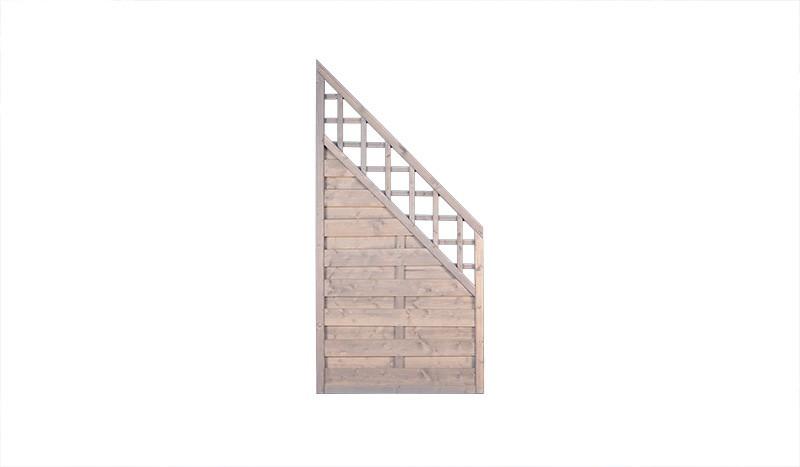 Abschlusselement aus kesseldruckimprägniertem Kiefer/Fichtenholz mit Rankgitter. Maß: 90 x 180 / 90 cm