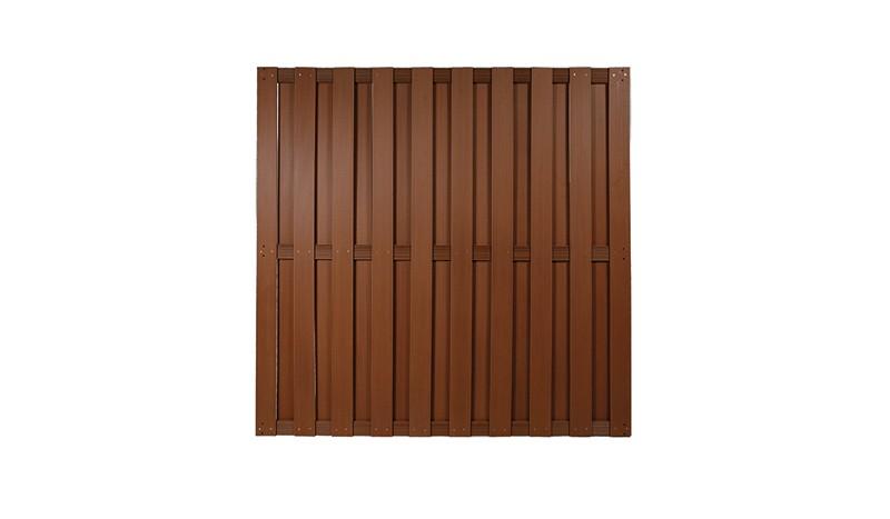 Der WPC Zaun in Braun mit dem Maßen 180 x 180cm