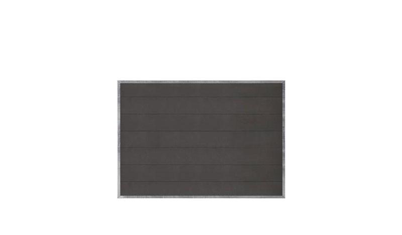 WPC Sichtschutzzaun. Rahmen: 30 x 30 x 3 mm feuerverzinkter Stahl, inkl. Schrauben für WPC-Pfosten