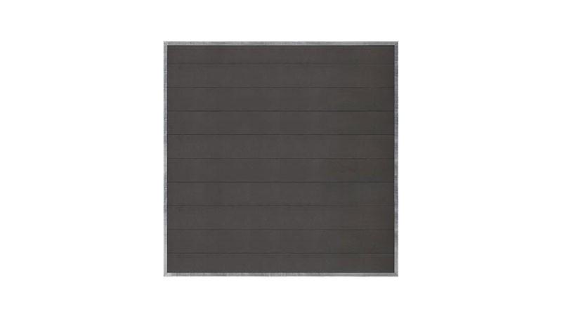 Ein 180 x 180 cm Zaun aus der Futura Serie. Sichtschutz aus WPC (Wood Plastic Composites)