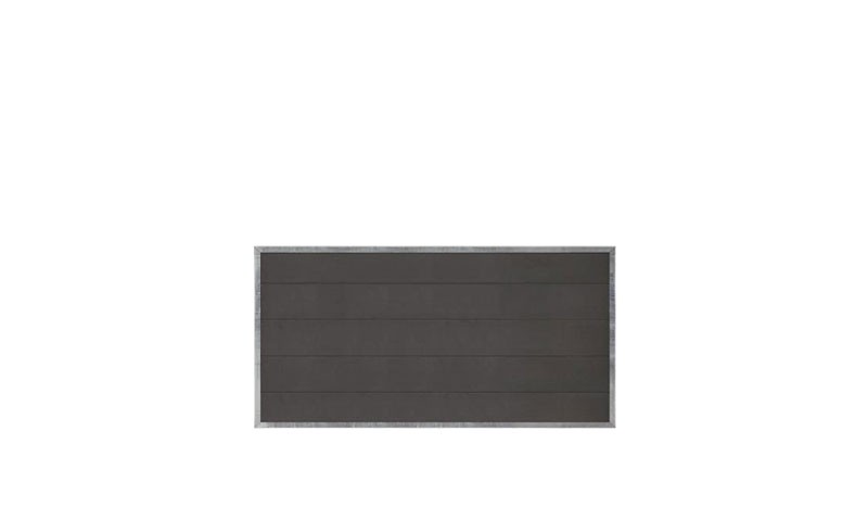 WPC Sichtschutz Futura mit dem Maß: 180 x 91 cm, Material: Sichtschutz aus WPC (Wood Plastic Composites)