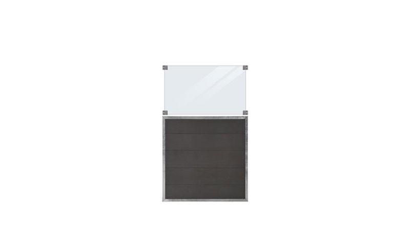 Futura Kunststoff Sichtschutzzäune inkl. Glaseinsatz 90 x 144 cm