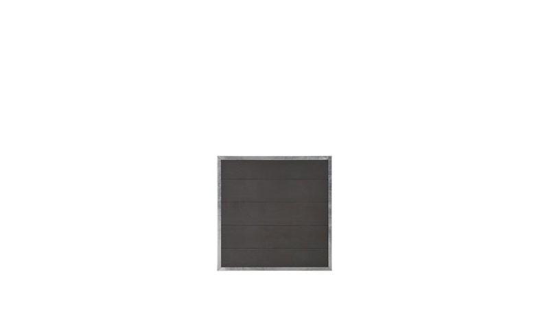 Ein Zaunelement aus der Futura Serie. Lamellen: 25 x 180 mm