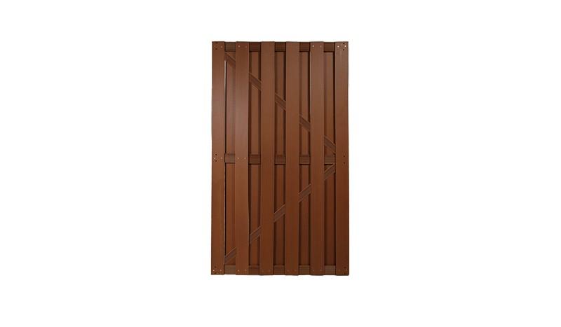 WPC Sichtschutz Tür in Braun mit den Maßen 100 x 180cm