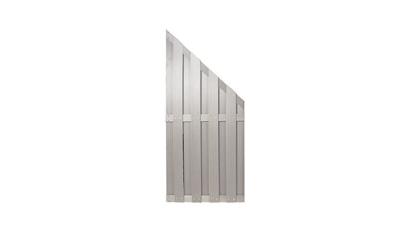 WPC Sichtschutzelement Abschlussecke mit den Maßen 90 x 180 / 90cm.