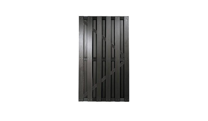WPC Zauntür in Anthrazit mit den Maßen 90 x 180cm