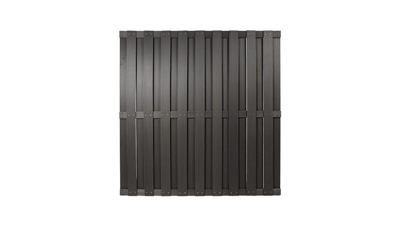 Der WPC Zaun in Anthrazit mit dem Maßen 180 x 180cm