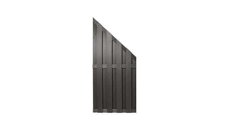 Abschluss für den WPC Zaun in Anthrazit mit den Maßen 90 x 180 / 90cm
