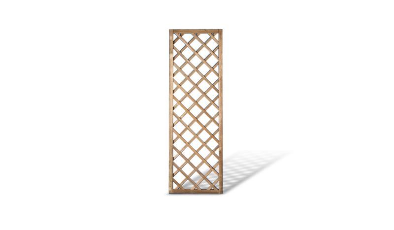 Holz Rankzaun in 60x180cm aus druckimprägnierter Kiefer/Fichte. 10x10cm Maschenweite