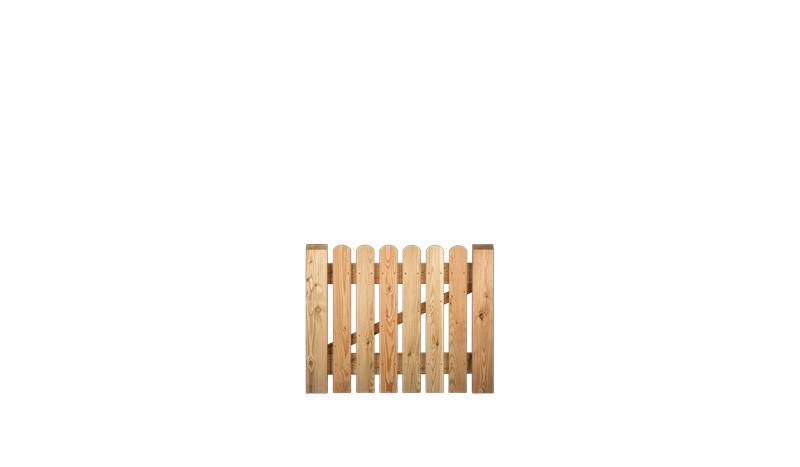 100 x 80cm Zaun Pforte mit 20 x 95 mm Zaubrettern, einem stabilen Holzrahmen mit Strebe aus sibirischer Lärche, Edelstahl verschraubt. Keine Beschläge im Lieferumfang enthalten.