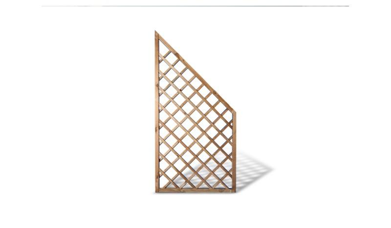 Rankgitter Holzzaun Abschlusselement. 90x180/90cm und 10x10cm Maschenweite.