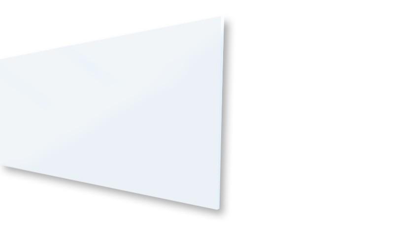 Lamelle aus VSG-Sicherheitsglas mit Matt-Struktur. Nicht individuell kürzbar. Maß: 179,2 x 32,9 x 0,6 cm.